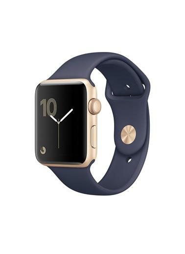 Series 2 42mm Altın Rengi Alüminyum Kasa ve Gece Mavisi Spor Kordon-Apple